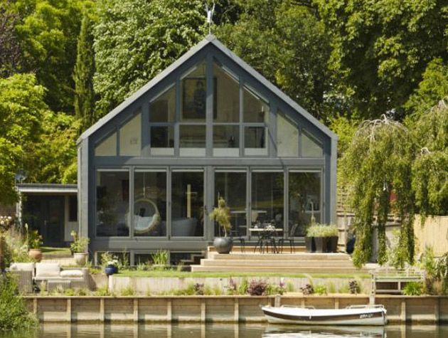 The amphibious house in Buckinghamshire was on Grand Designs in 2014