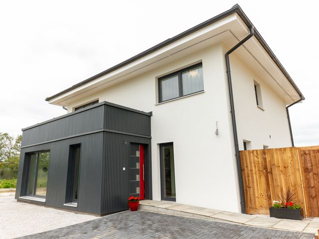 A modular home built with a Dan-Wood system in Graven Hill, Bicester