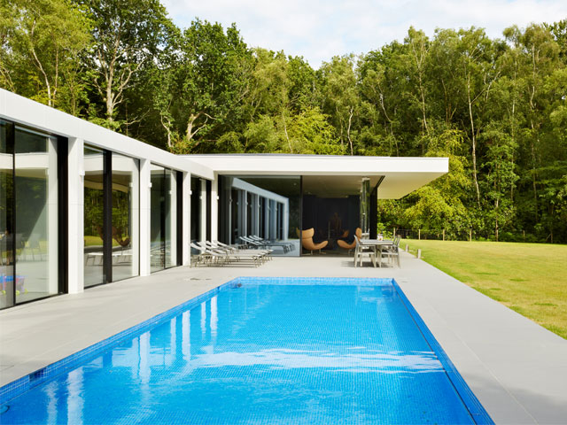 The West Sussex pavilion house with swimming pool was on Grand Designs in 2018
