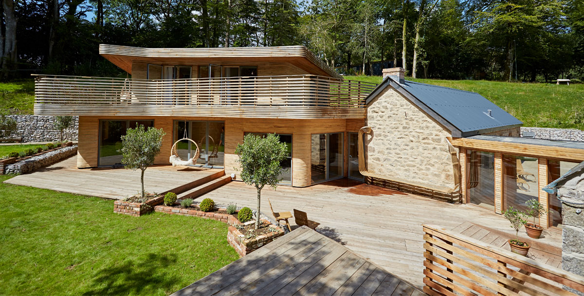 eco home with ground heat source pump in Cornwall
