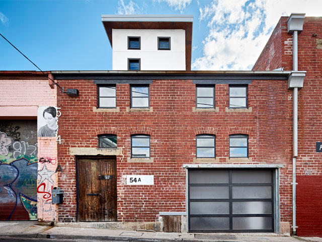 Exterior of the derelict Vinegar factory turned into a house and featured on Grand Designs