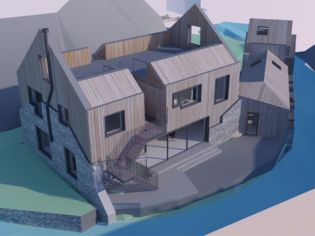 GCI plan for a derelict mill converted into a house in South Lakeland