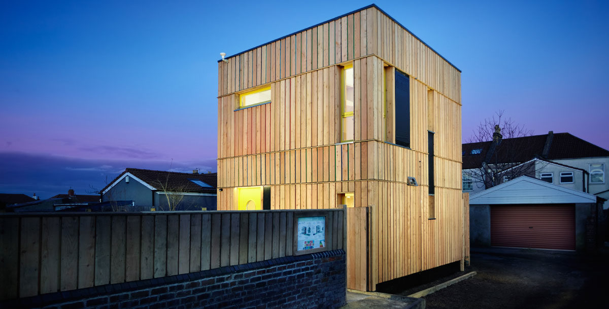 the snug home is a net zero carbon home built from timber to passivehaus standards in bristol